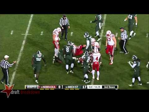 Shilique Calhoun vs Nebraska 2014 video.