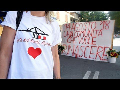 Η Γένοβα τιμά τα θύματα της γέφυρας Μοράντι