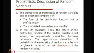 Mod-01 Lec-08 CDF And Descriptors Of Random Variables
