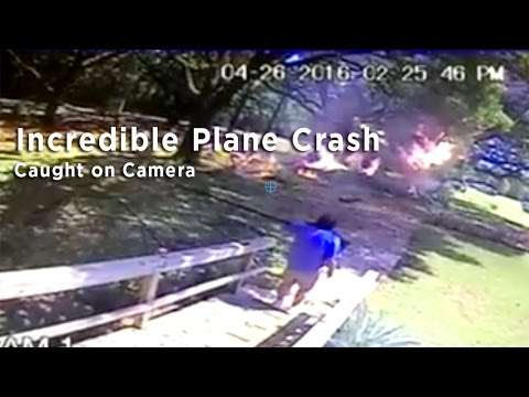 Surveillance Video Catches A Plane Crash