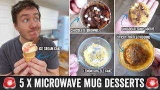 5 Emergency Microwave Mug Recipe Desserts! by  My Virgin Kitchen