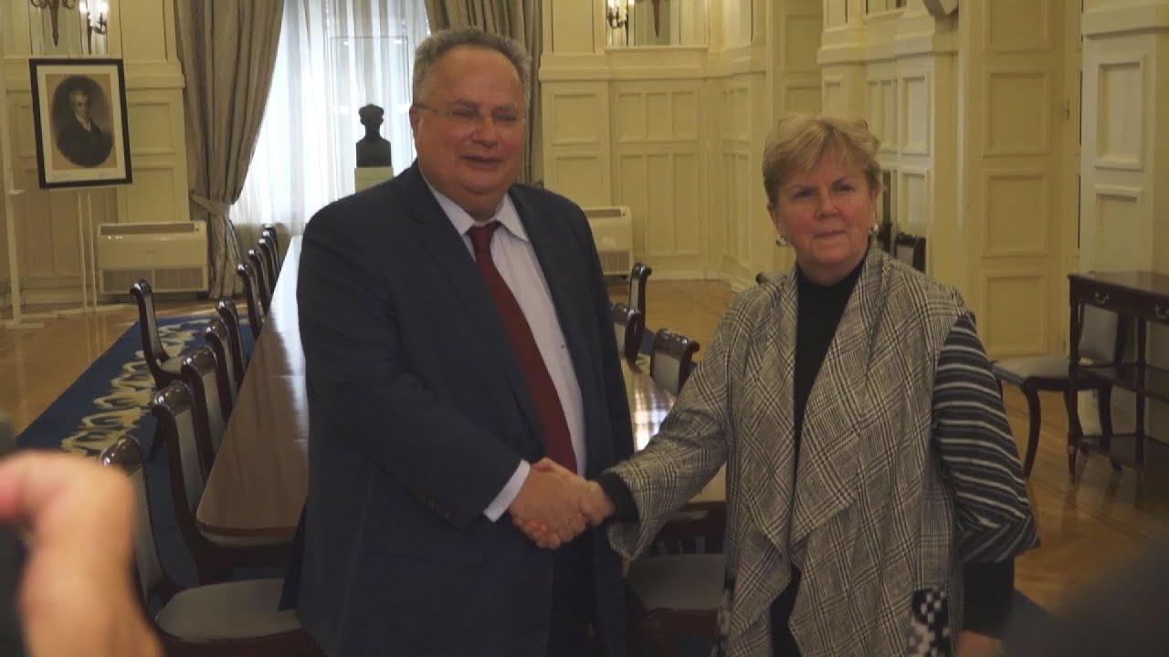 Συνάντηση ΥΠΕΞ, Ν. Κοτζιά, με την ειδική απεσταλμένη του Γ . Γ. ΗΕ για το Κυπριακό, Jane Holl Lute
