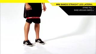Mini Bands Straight Leg Lateral Walk