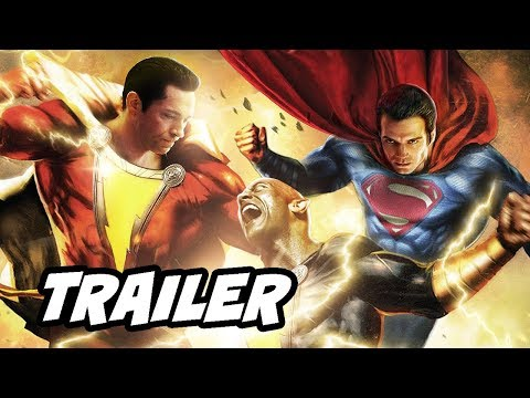 Shazam Trailer - Superman Black Adam Post Credit Scene Theory Breakdown