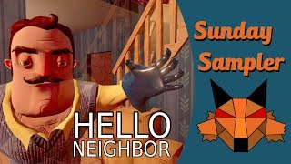In this week's Sunday Sampler we try out the demo of the stealth horror game Hello Neighbor.Intro artwork by Jesper Myrthue at http://www.myrthuelarsen.dkIntro music by bensound at http://www.bensound.com/royalty-free-musicSubscribe! https://www.youtube.com/user/MentalFoxOG?sub_confirmation=1Follow me on Twitter: https://twitter.com/MentalFoxOGFollow me on Facebook: https://facebook.com/MentalFoxOGGame description from steam.com:Hello Neighbor is a stealth horror game about sneaking into your neighbor's house to figure out what horrible secrets he's hiding in the basement. You play against an advanced AI that learns from your every move. Really enjoying climbing through that backyard window? Expect a bear trap there. Sneaking through the front door? There'll be cameras there soon. Trying to escape? The Neighbor will find a shortcut and catch you. Buy the game here: http://store.steampowered.com/app/521890/Hello_Neighbor/* Check out my other Let's Plays:Resident Evil 7: http://bit.ly/2jNbjtfDeus Ex Mankind Divided: http://bit.ly/2hRLCLSNo Man's Sky: http://bit.ly/2iAY16kInside: http://bit.ly/2aUV1wkSunday Samplers: http://bit.ly/2aUV5MOUncharted 4: http://bit.ly/2aUUJWmDark Souls 3: http://bit.ly/2awtW3iRise of the Tomb Raider: http://bit.ly/2aufdEVFirewatch: http://bit.ly/1LjNyAuThe Old Hunters Bloodborne DLC: http://bit.ly/2ayNpRrGone Home: http://bit.ly/2aRprmjFallout 4: http://bit.ly/2ayNHHPUntil Dawn: http://bit.ly/2aOjzc6SOMA: http://bit.ly/2aJEYlFBatman Arkham Knight: http://bit.ly/2aAXJpfThe Witcher 3: http://bit.ly/2aOjlSdThe Witcher: http://bit.ly/2aPfDs4Bloodborne: http://bit.ly/2aT0SpvThe Evil Within: http://bit.ly/2aJFjEQTo The Moon: http://bit.ly/2awwHkYDragon Age: Inquisition: http://bit.ly/2b3KDBVFar Cry 4: http://bit.ly/2aUXoPMBeyond Good & Evil: http://bit.ly/2avsmvsAlien:Isolation Last Survivor: http://bit.ly/2aT1o6BAlien:Isolation Crew Expendable: http://bit.ly/2avEUZSDreamfall Chapters http://bit.ly/2aD2vD3Alien: Isolation: http://bit.ly/2amuBl2Crown of the Ivory King Dark Souls 2 DLC: http://bit.ly/2b3LtysDestiny: http://bit.ly/2aUXw1RCrown of the Old Iron King Dark Souls 2 DLC: http://bit.ly/2aJFOysCrown of the Sunken King Dark Souls 2 DLC: http://bit.ly/2auiBja