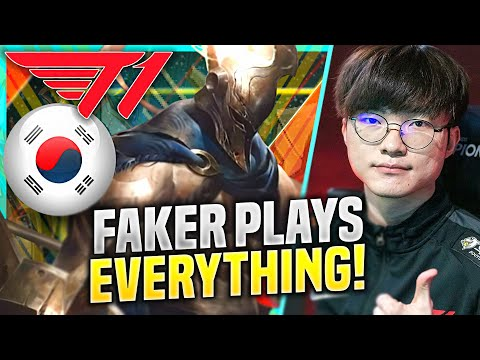 FAKER CAN LITERALLY PLAY EVERYTHING! - T1 Faker Plays Pantheon Support vs Maokai! | KR SoloQ 10.22