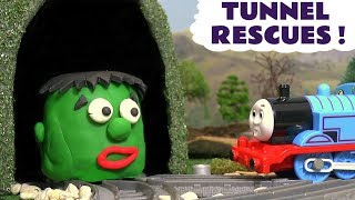 Video Thomas The Tank Engine Tunnel Rescues with HULK Dinosaurs & Minions for Kids Play Doh Animation TT4U MP3, 3GP, MP4, WEBM, AVI, FLV September 2017
