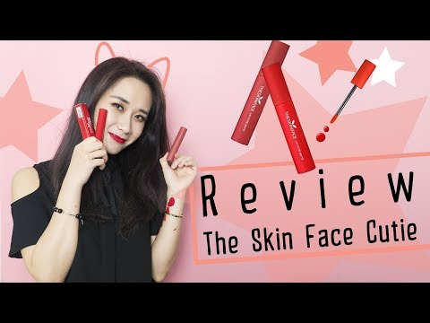 [GIVEAWAY] The Skin Face Lip Cutie Matte swatch & review son kem | Hương Witch