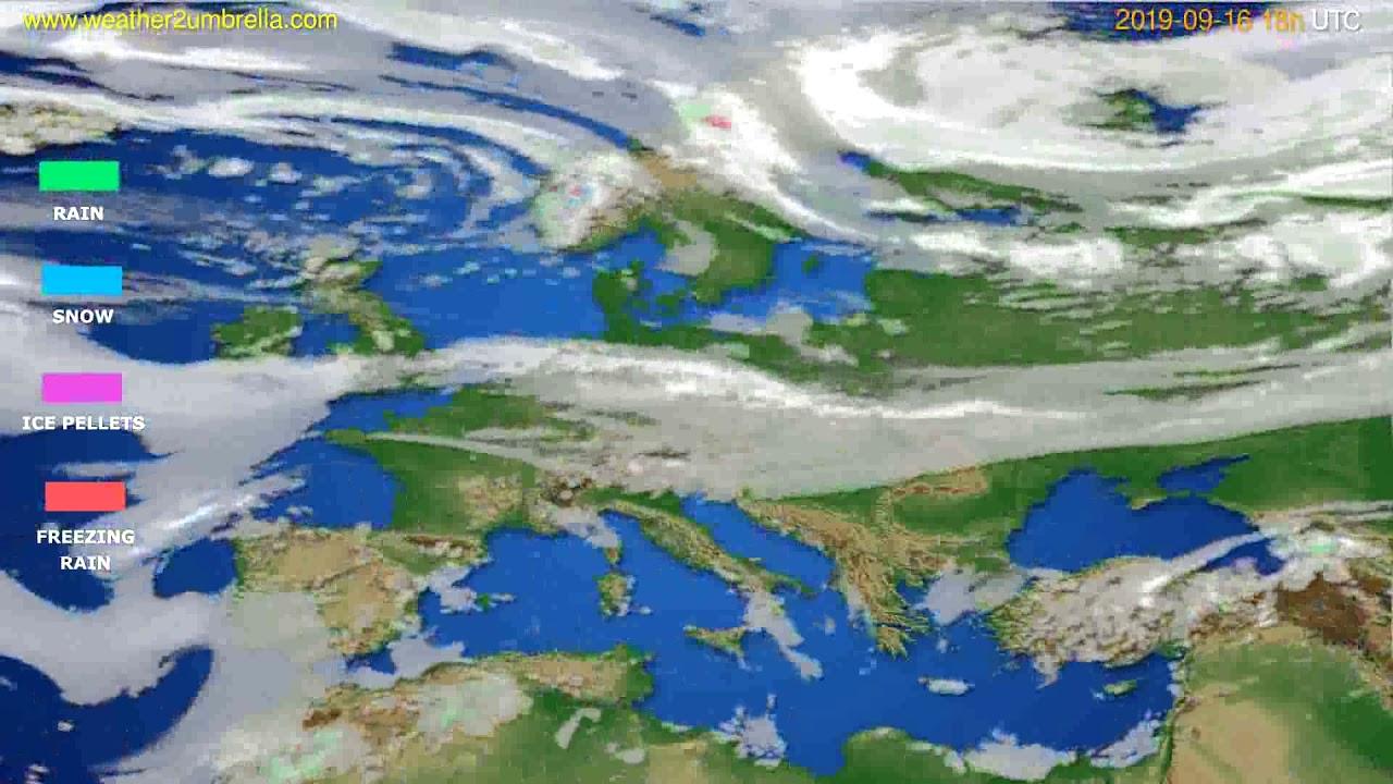Precipitation forecast Europe // modelrun: 00h UTC 2019-09-14
