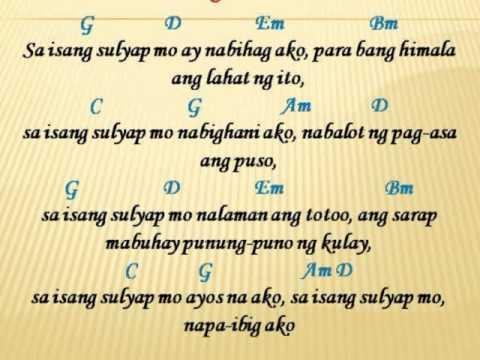 Sa Isang Sulyap Mo Lyrics Guitar Chords Madiimadel