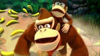 Donkey Kong Country Returns Co-op Walkthrough - World 1 - Jung...
