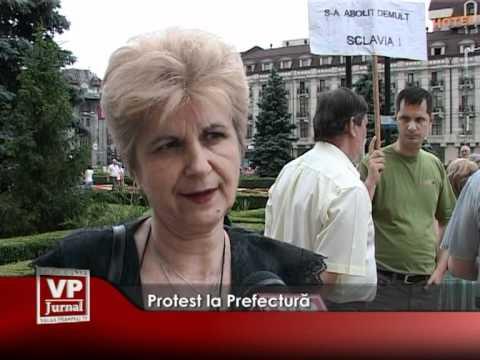 Protest la Prefectură
