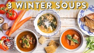Buzy Beez! It's so cold and wet these days! That's why I'm making 3 warming Winter Soups for you! We have a Roasted Tomato...