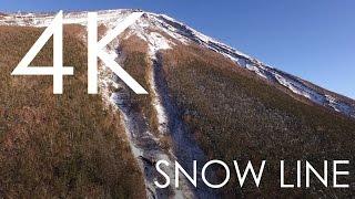 Snow line of Mt.Fuji / 富士山の雪の境界 [4K]