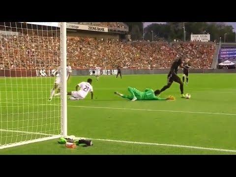 Romelu Lukaku Debut Goal ⚽️ Real Salt Lake vs Manchester United 1-2 HD 18.07.2017 (видео)