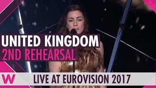 """Lucie Jones will sing """"Never Give Up On You"""" for the United Kingdom at Eurovision 2017. We recorded her 2nd rehearsal. BUY EUROVISION T-SHIRTS: http://wiwibl..."""