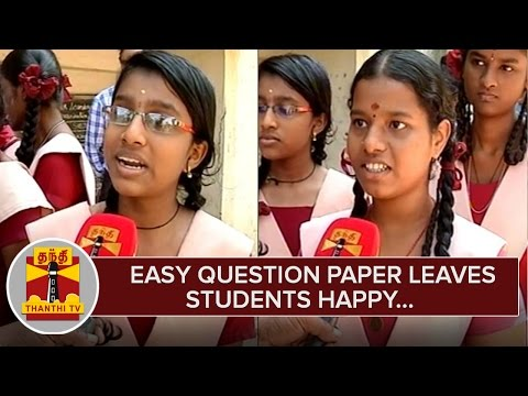 HSC-Exam--Easy-Mathematics-Question-Paper-leaves-Students-Happy--Thanthi-TV