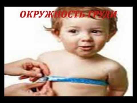 Антропометрические измерения у детей окружности головы,груди, роста и веса