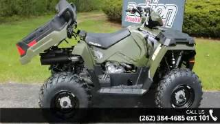7. 2017 Polaris Sportsman X2 570 EPS Sage Green  - Action Po...