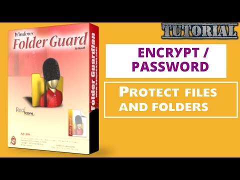 Encrypt / password protect files and folders with Folder Guard | video tutorial by TechyV