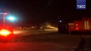 Самолет выкатился за пределы ВПП в аэропорту Калининграда - ВИДЕО
