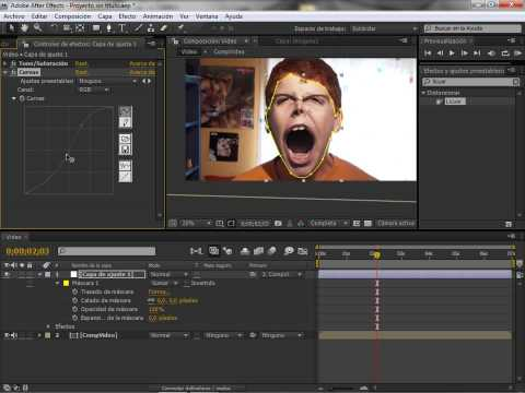 Video 7 de After Effects: After Effects cara de demonio