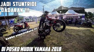 Video POSKO MUDIK YAMAHA 2018 | BOBBY STUNTRIDERS  WHEELIE !!! MP3, 3GP, MP4, WEBM, AVI, FLV Juli 2019