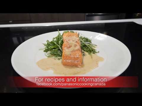 Poached Salmon With White Wine Cream Sauce -- Panasonic Cooking Canada