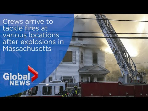 Crews arrive to tackle fires at various locations in Massachusetts