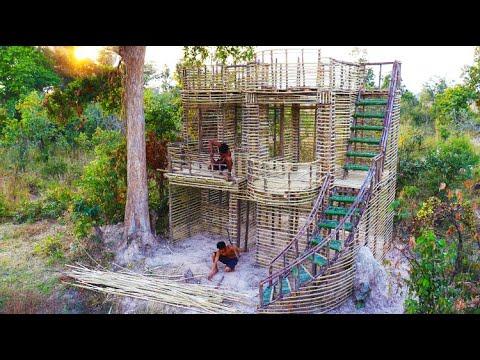 Building The Most Amazing Modern Waris Villa By Primitive Technology [Part 1 ]