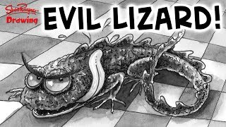 Learn how award-winning illustrator, Shoo Rayner, draws an Evil Lizard with pen and ink and a single colour grey watercolour wash to add tone. A great style for black and white illustrated books.You can get a hi-res copy of this image here https://www.patreon.com/posts/11713262This video is inspired by my Scaredy Cats story video - The Killer Catflap - you can see the video here https://youtu.be/t0Y8W93p1JQMore details about the Scaredy Cats book can be found here http://www.shoorayner.com/shoos-books/scaredycats/ and you can get the books from Amazon here in the UK http://amzn.to/2rVaCXVand here in the US http://amzn.to/2sYlqViIts a different style to the drawings in the book and the video. There I just used pen and ink here I use a greyscale wash using Winsor and Newton's Neutral Tint, which I find works a lot better than black. You can get it from Amazon here in the UK - http://amzn.to/2suyekN and here in the US http://amzn.to/2sF9VPoWith award winning illustrator, Shoo RaynerYou can support my videos on Patreon ➡️ http://bit.ly/ShooPatreonPageSubscribe for lots more drawing :) ➡️ http://bit.ly/Sub2ShooEveryone asks about the tools I use when I'm out using my sketchbook. here's a video to show you what and how I use them. https://youtu.be/QJwjV1FKdygThe Pentel Aquash Brush is here in the Uk http://bit.ly/PentelAquabrushUKand here in the US   http://bit.ly/PentelAquashBrushUSARotring Tikky Graphic in the UK here http://bit.ly/TikkyGraphicUKin the USA http://bit.ly/TikkyGraphicUSThe Cotman sketching watercolour set is here in the UK http://amzn.to/1gNpZ8sand in the US here: http://amzn.to/1gaG6qAThe Seawhite of Brighton a5 travel journal is here in the Uk http://bit.ly/SeawhiteJournalUK and here in the USA http://bit.ly/SeawhiteA5JournalUSATwitter http://twitter.com/shooraynerGoogle+ https://plus.google.com/u/0/117947137150973770218Facebook http://www.facebook.com/profile.php?id=750207845Website http://www.shooraynerdrawing.commusic by http://www.youtube.com/cleffe