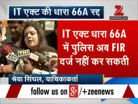 SC Strikes Down Section 66A Of IT Act