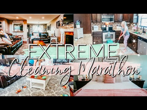 CLEAN WITH ME MARATHON|1.5 HOURS OF EXTREME CLEANING MOTIVATION|CLEANING ROUTINE 2019
