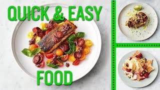 Jamie's Quick and Easy Food | Smoky Chorizo Salmon, Gnarly Peanut Chicken and Honey Berry Filo Sma by Jamie Oliver