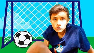 Alena and Pasha fun pretend play with ball and toys Kids activity compilation by Chiko TV