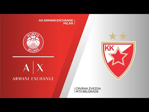 AX Armani Exchange Milan - Crvena Zvezda mts Belgrade Highlights | EuroLeague, RS R… видео