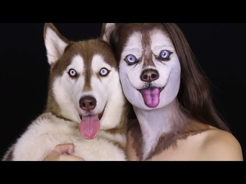 tutorial incredibile - come realizzare un make up da siberian husky