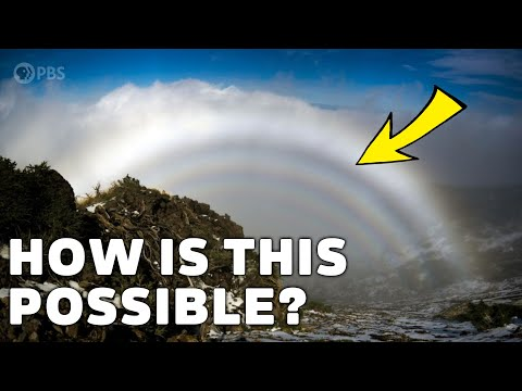 How rainbows with NO COLOR are possible
