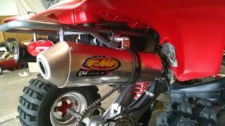 7. Honda 400ex- FMF Q4 vs Stock Exhaust