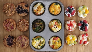 Three Healthy Breakfasts In A Muffin Tin by Tasty