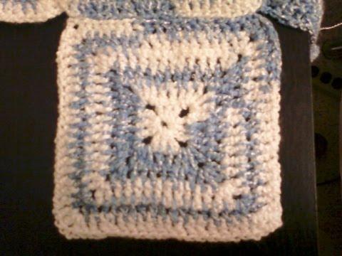 cuadritos a crochet - Estos cuadritos tejidos pueden ser usados para crear frisas, colchas, cojines o almohadas, y manteles. (tutorial de tejido, tutorial de crochet, tutorial de ...