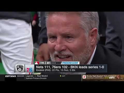 Stephen A. Smith reacts to Nets BEAT 76ers & Trail Blazers BEAT Thunder