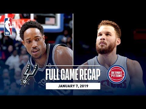 Video: Full Game Recap: Spurs vs Pistons   DeRozan Stuffs the Stat Sheet