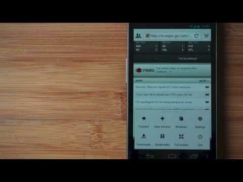 Video of Galaxy Flash Browser
