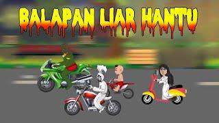 "Download Video BALAP MOTOR HANTU KARTUN LUCU TERBARU ""Azmiakids"" MP3 3GP MP4"