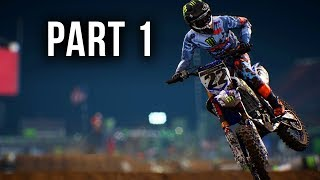 Monster Energy Supercross Gameplay Walkthrough Part 1 - CAREER MODE