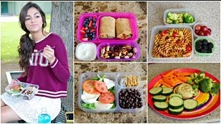 Healthy Back to School Lunches + After School snack ideas! - YouTube