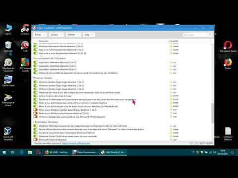 O&O ShutUp 10/ Utilisation/ tuto FR