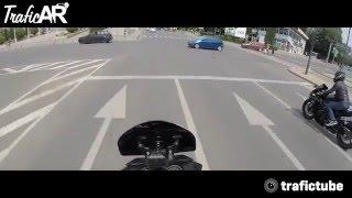 Wymuszenie pierwszeństwa na skrzyżowaniu na motocykliście.