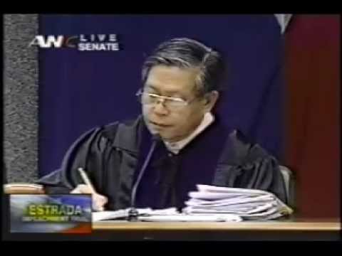 impeachment trial - Moments in History, January 16, 2011 Assisting Counsel of the House Panel of Prosecutors for the Impeachmen Trial of Pres. Joseph Estrada.